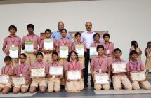 District Runners in Tennis match and Karate Champions in Assembly