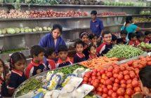 UKG kids went for field trip to Vasunthara Fruit&Veg Stall